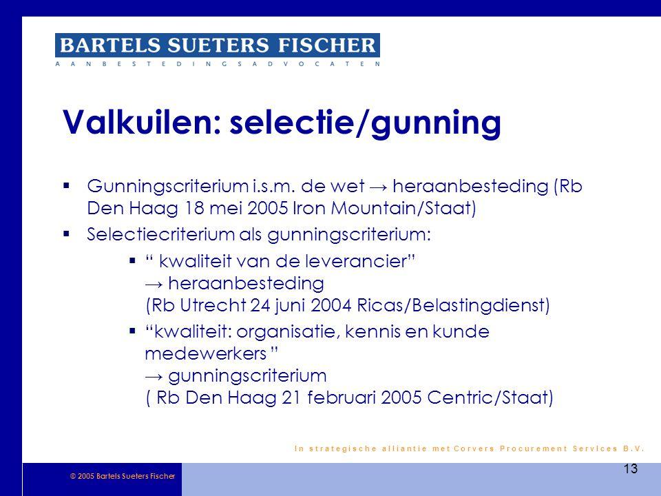 Valkuilen: selectie/gunning