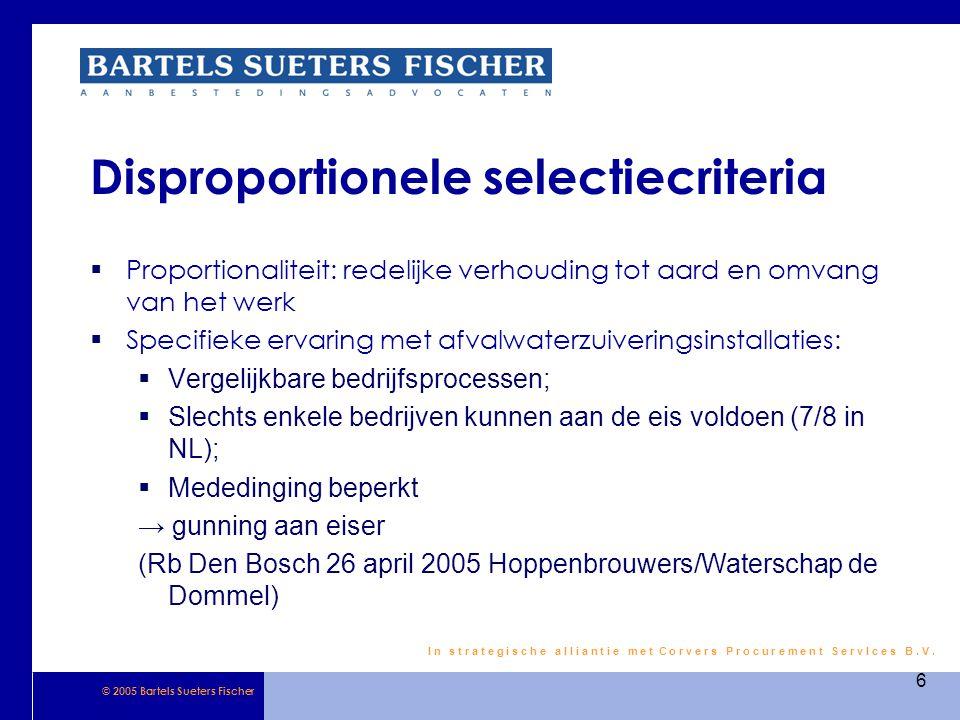Disproportionele selectiecriteria