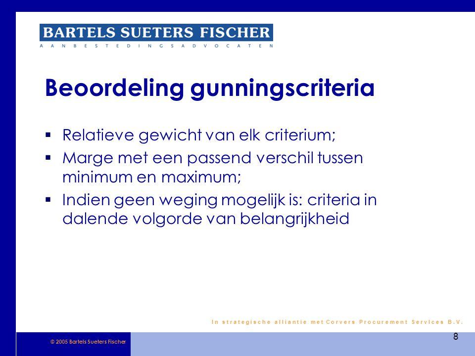 Beoordeling gunningscriteria