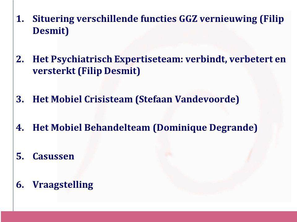 Situering verschillende functies GGZ vernieuwing (Filip Desmit)