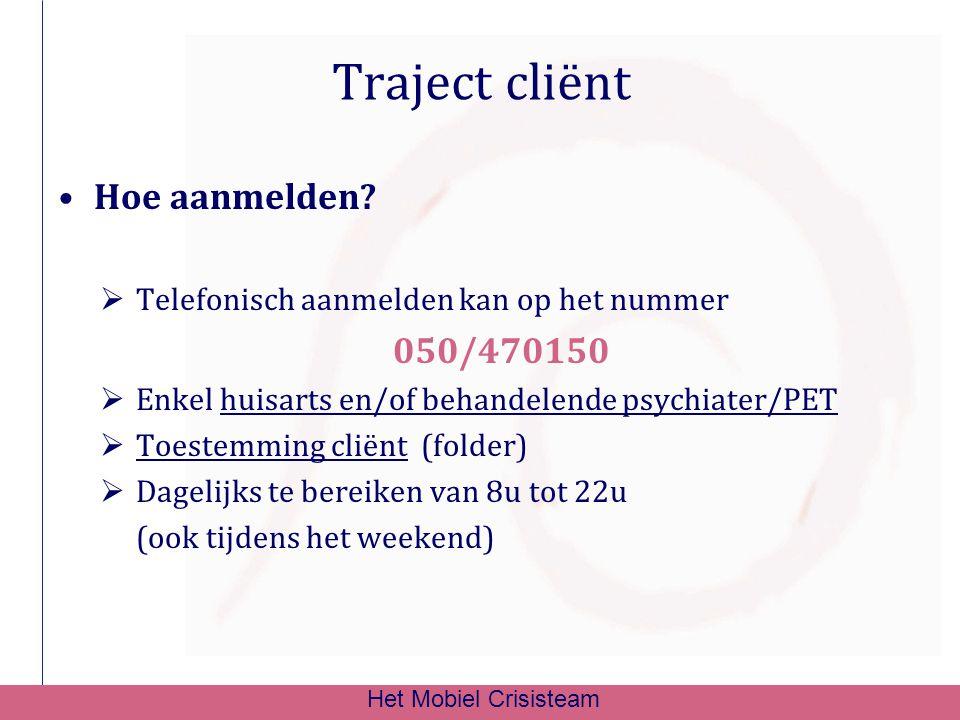 Traject cliënt Hoe aanmelden 050/470150