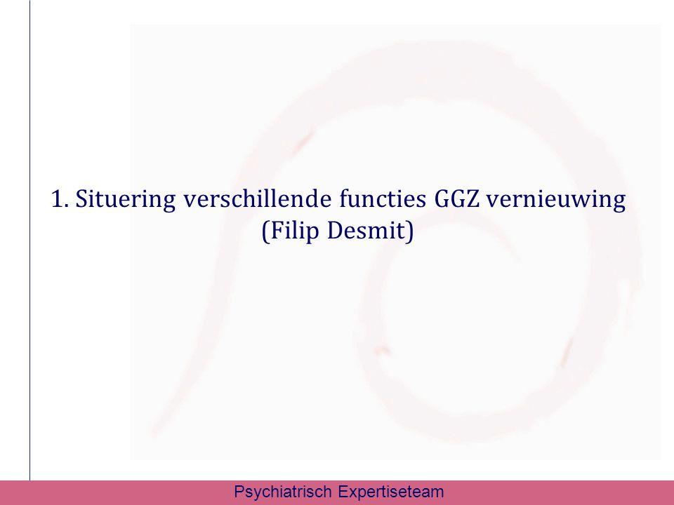 1. Situering verschillende functies GGZ vernieuwing (Filip Desmit)
