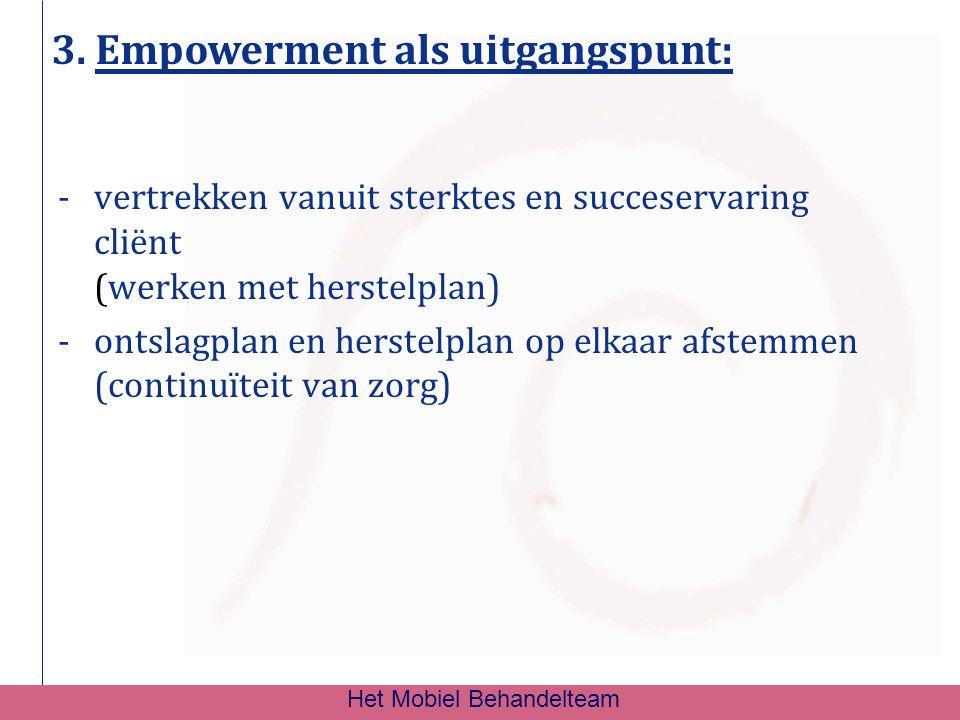 3. Empowerment als uitgangspunt: