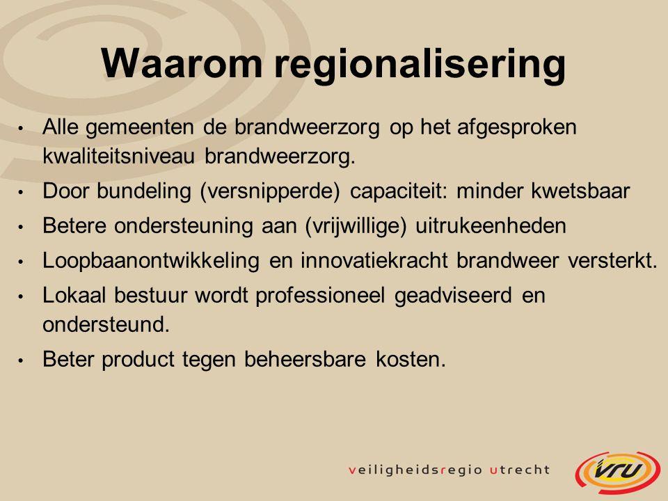 Waarom regionalisering
