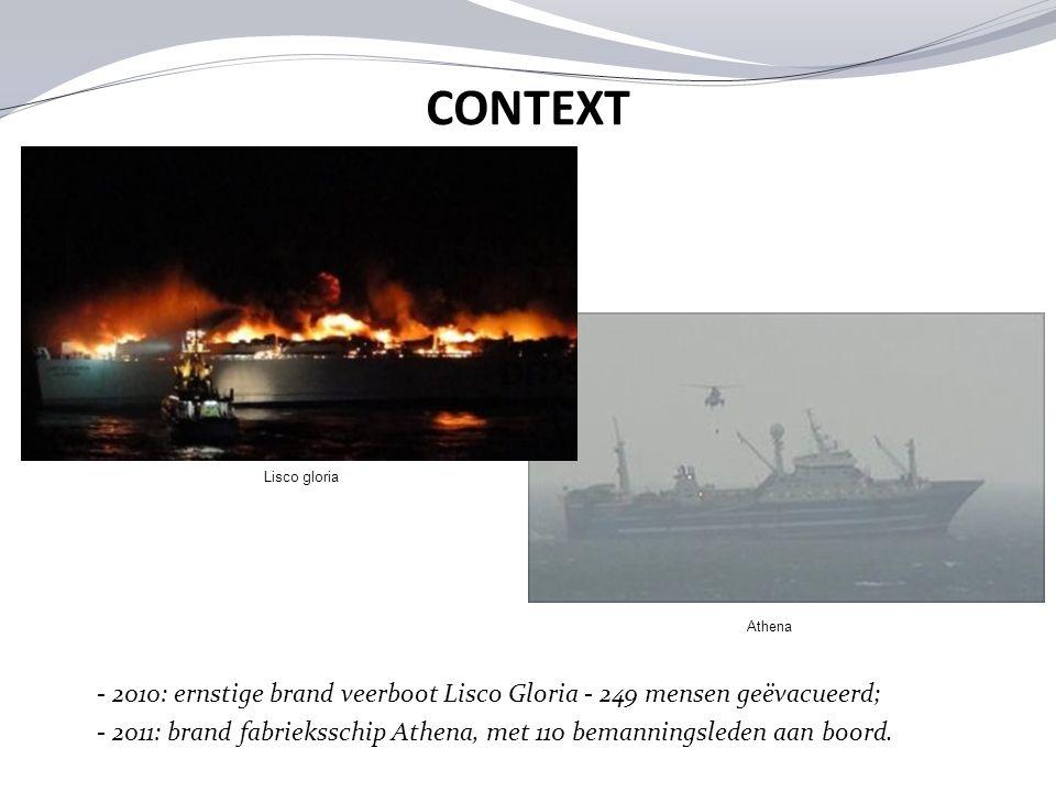 CONTEXT Lisco gloria. Athena. - 2010: ernstige brand veerboot Lisco Gloria - 249 mensen geëvacueerd;