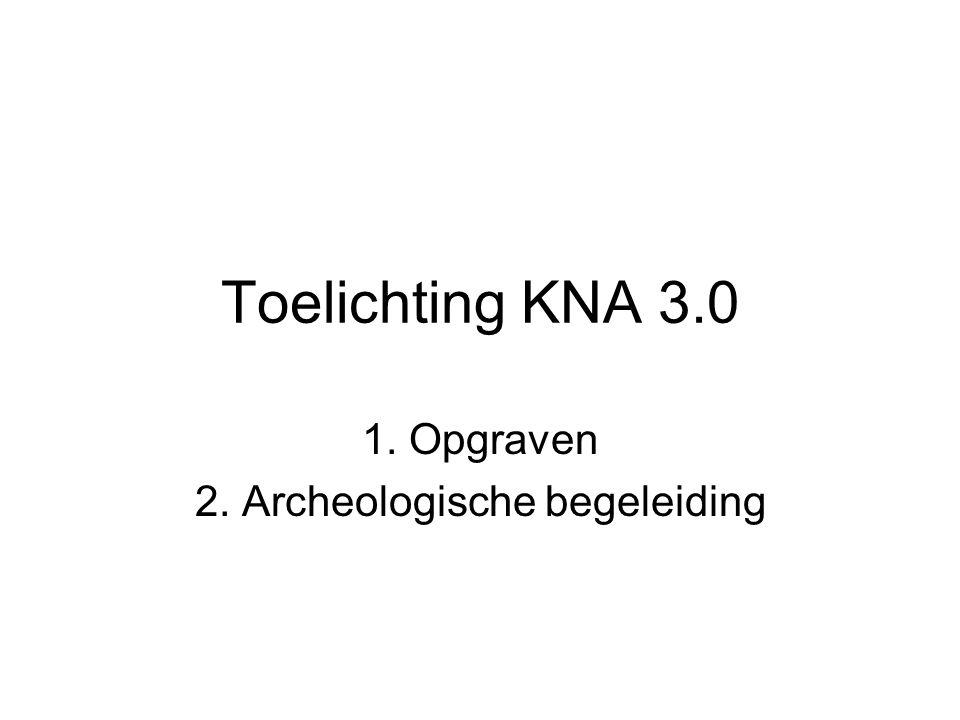 1. Opgraven 2. Archeologische begeleiding