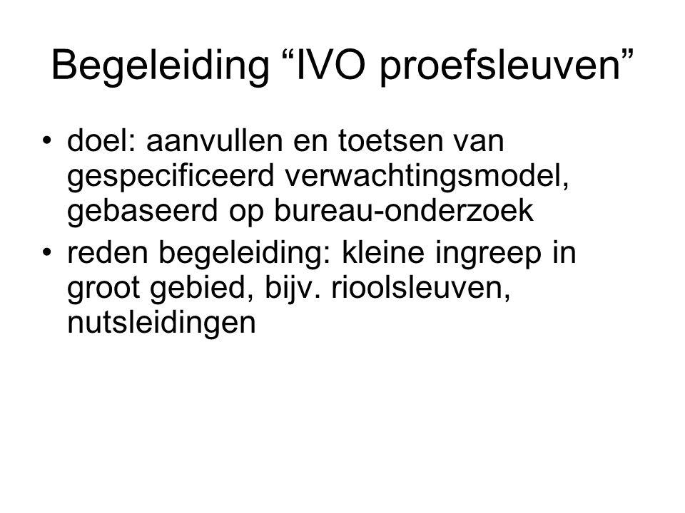 Begeleiding IVO proefsleuven