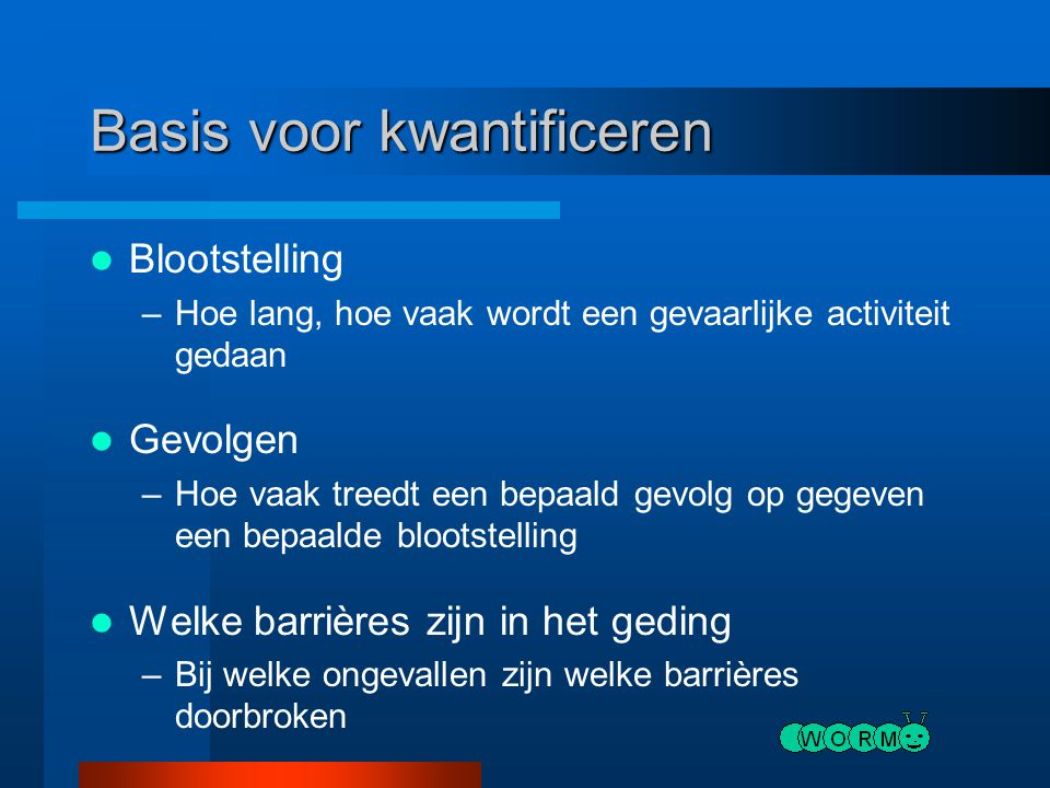 Basis voor kwantificeren