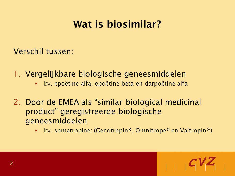 Definitie EMEA: What is a biosimilar medicine