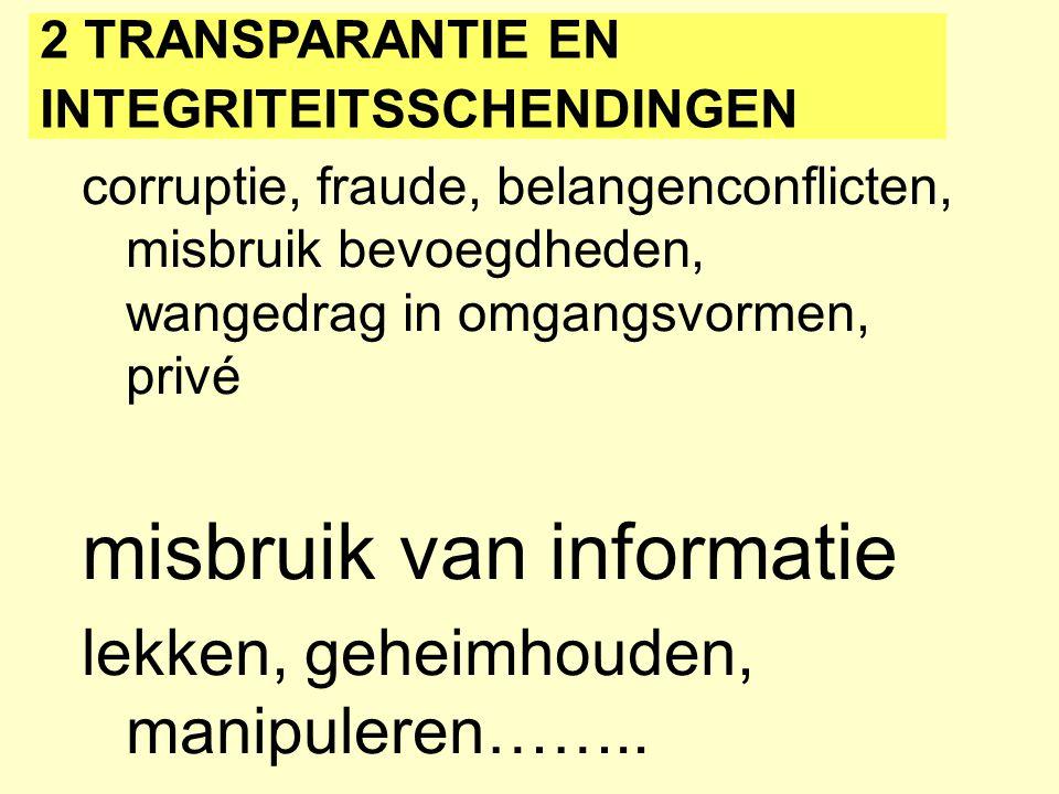 misbruik van informatie