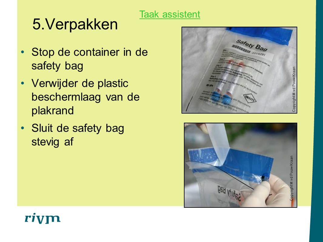 5.Verpakken Stop de container in de safety bag