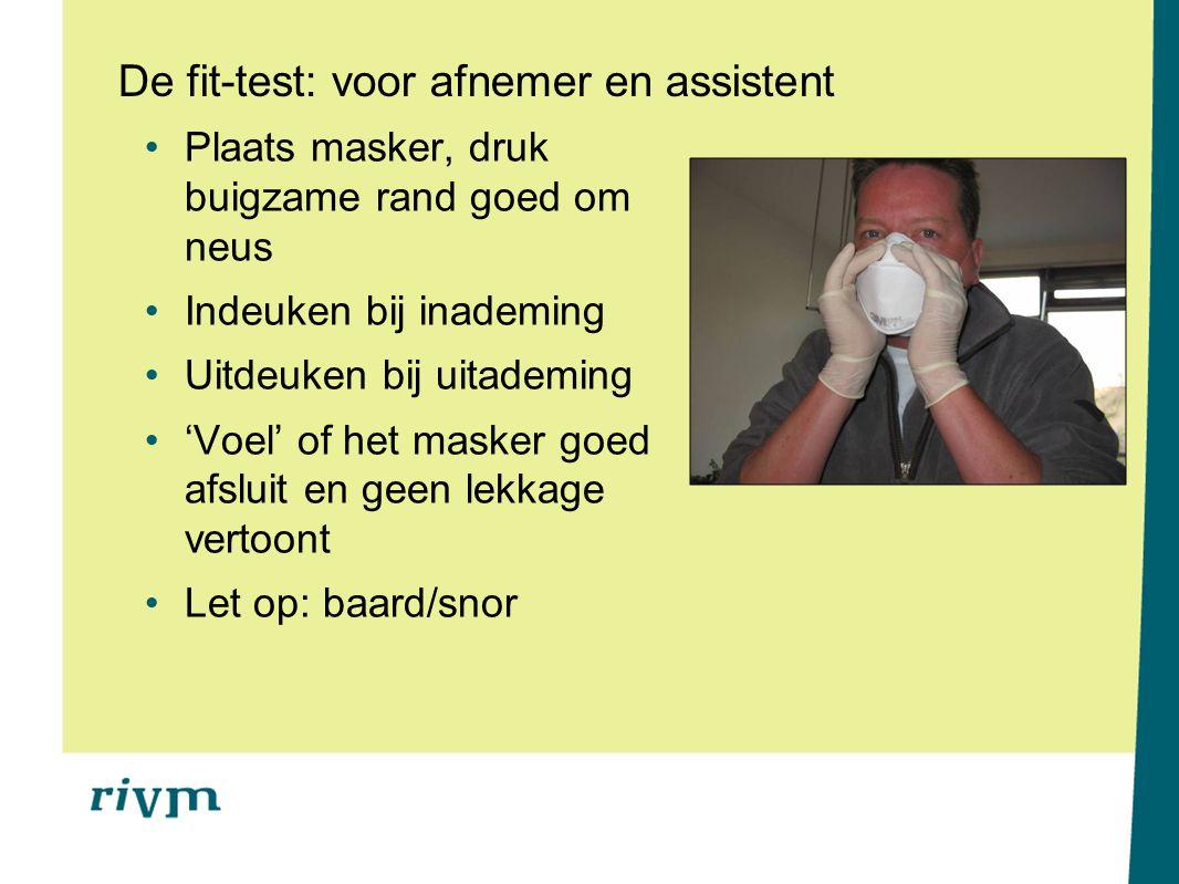 De fit-test: voor afnemer en assistent