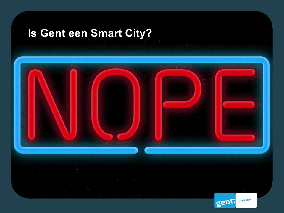 Is Gent een Smart City