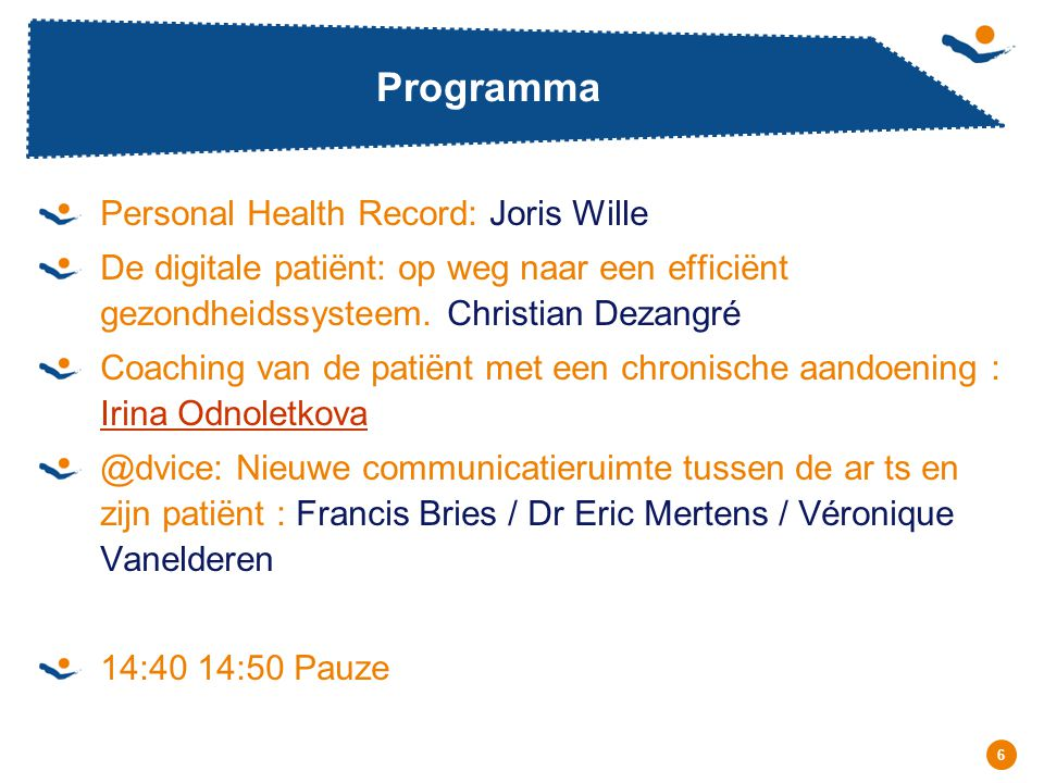 Programma Personal Health Record: Joris Wille