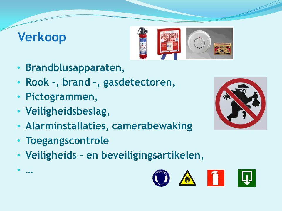 Verkoop Brandblusapparaten, Rook -, brand -, gasdetectoren,