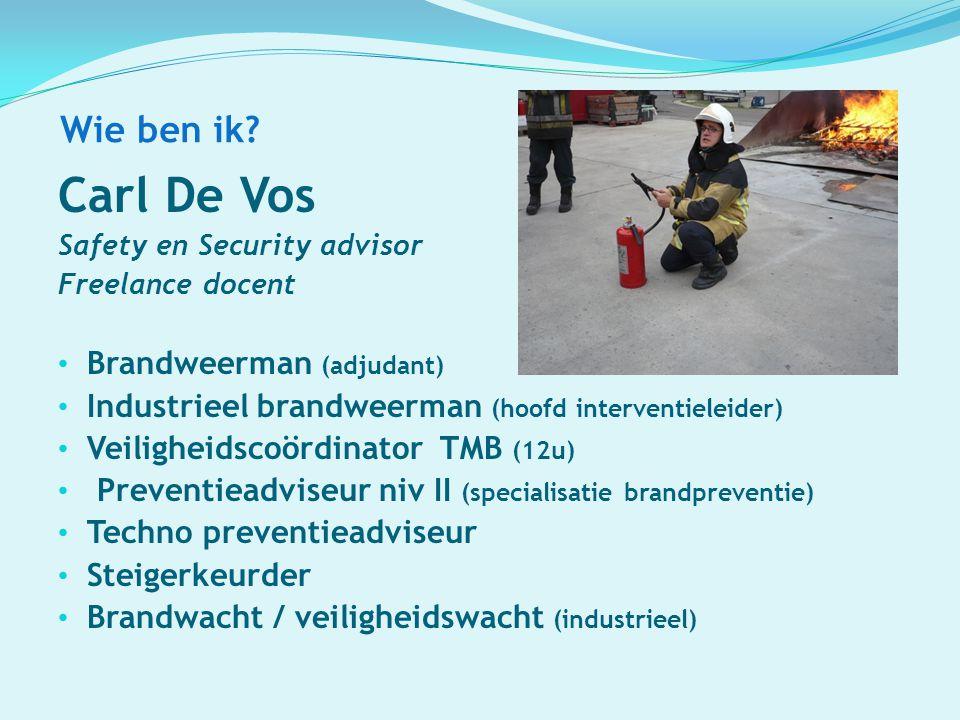 Carl De Vos Wie ben ik Brandweerman (adjudant)