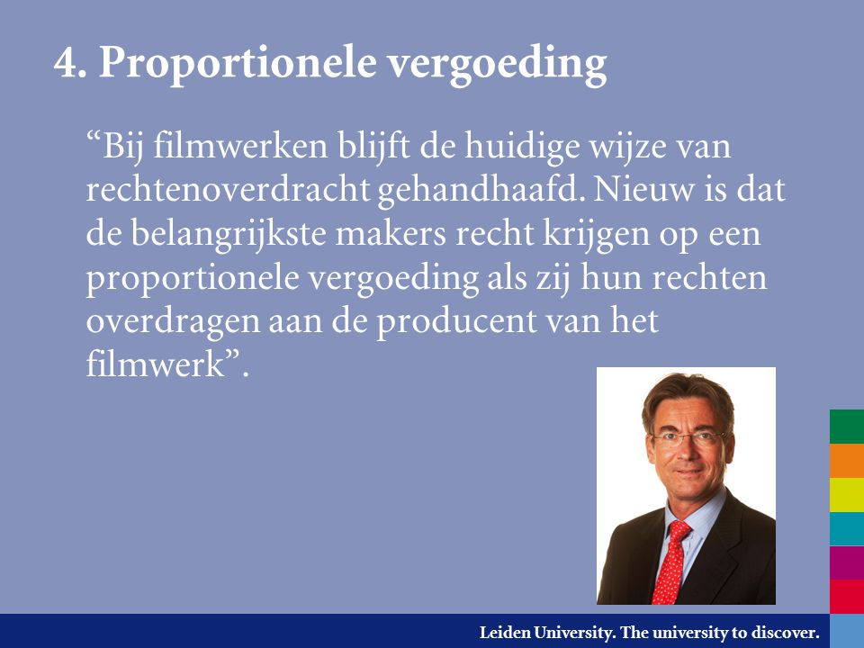 4. Proportionele vergoeding