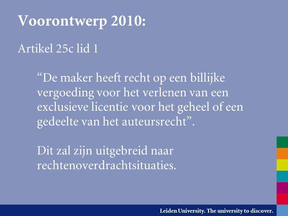 Voorontwerp 2010: Artikel 25c lid 1