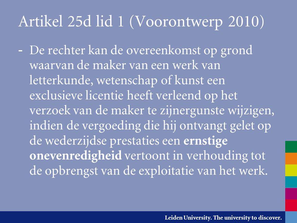 Artikel 25d lid 1 (Voorontwerp 2010)