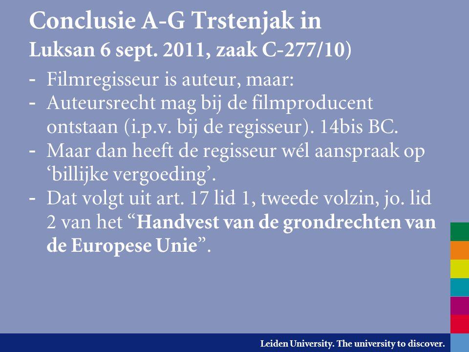 Conclusie A-G Trstenjak in Luksan 6 sept. 2011, zaak C-277/10)