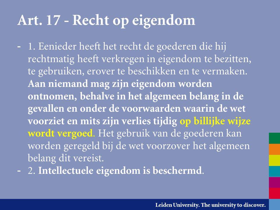 Art. 17 - Recht op eigendom