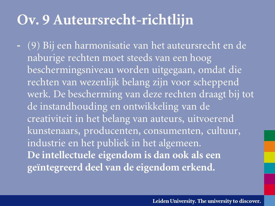 Ov. 9 Auteursrecht-richtlijn
