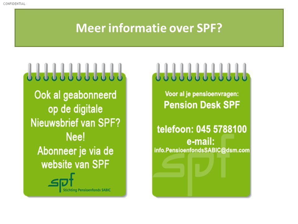 Meer informatie over SPF