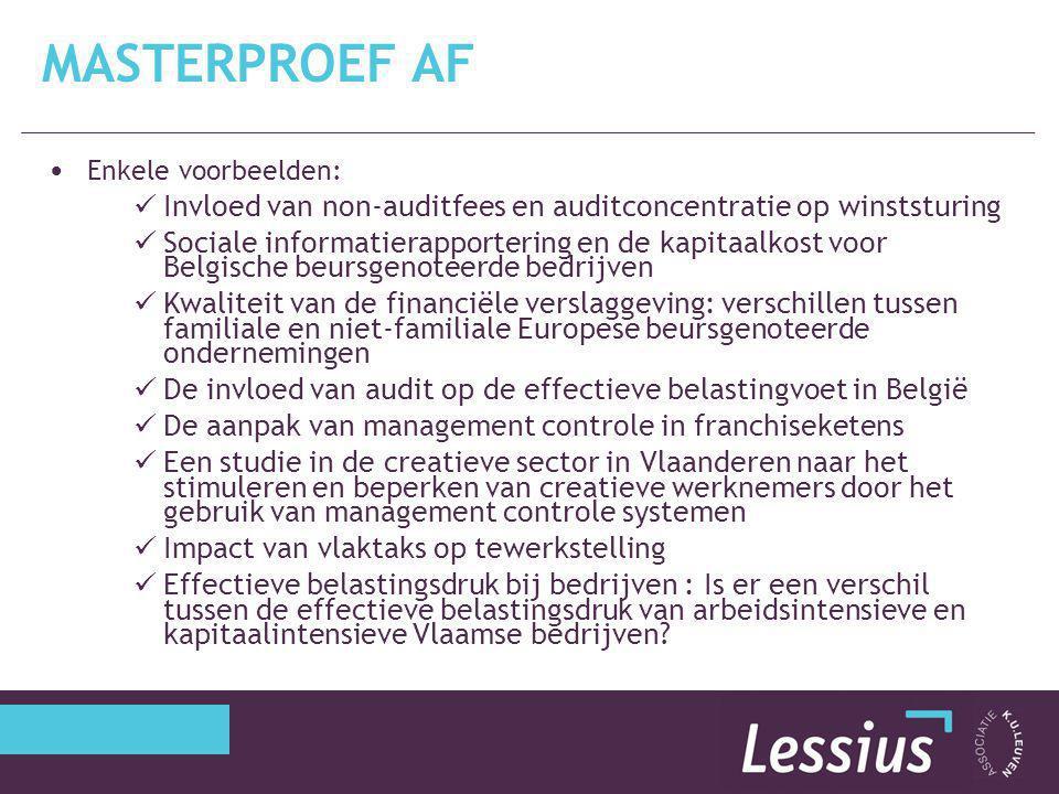 Masterproef AF Enkele voorbeelden: Invloed van non-auditfees en auditconcentratie op winststuring.