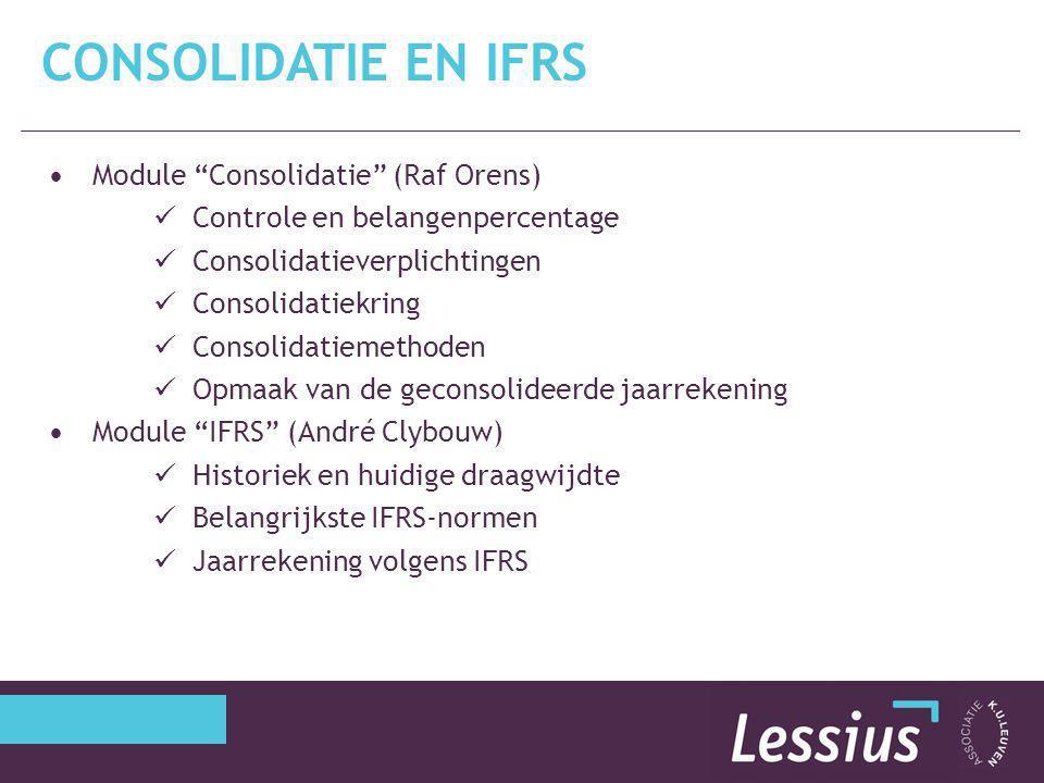 Consolidatie en IFRS Module Consolidatie (Raf Orens)