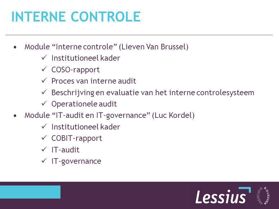 Interne controle Module Interne controle (Lieven Van Brussel)