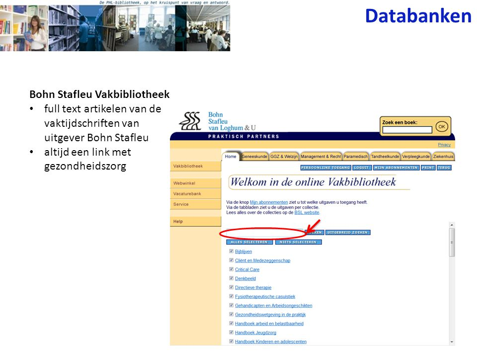Databanken Bohn Stafleu Vakbibliotheek