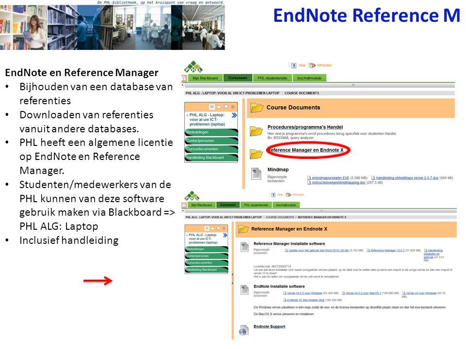 EndNote Reference M EndNote en Reference Manager