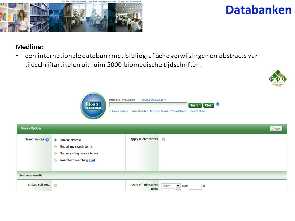 Databanken Medline: