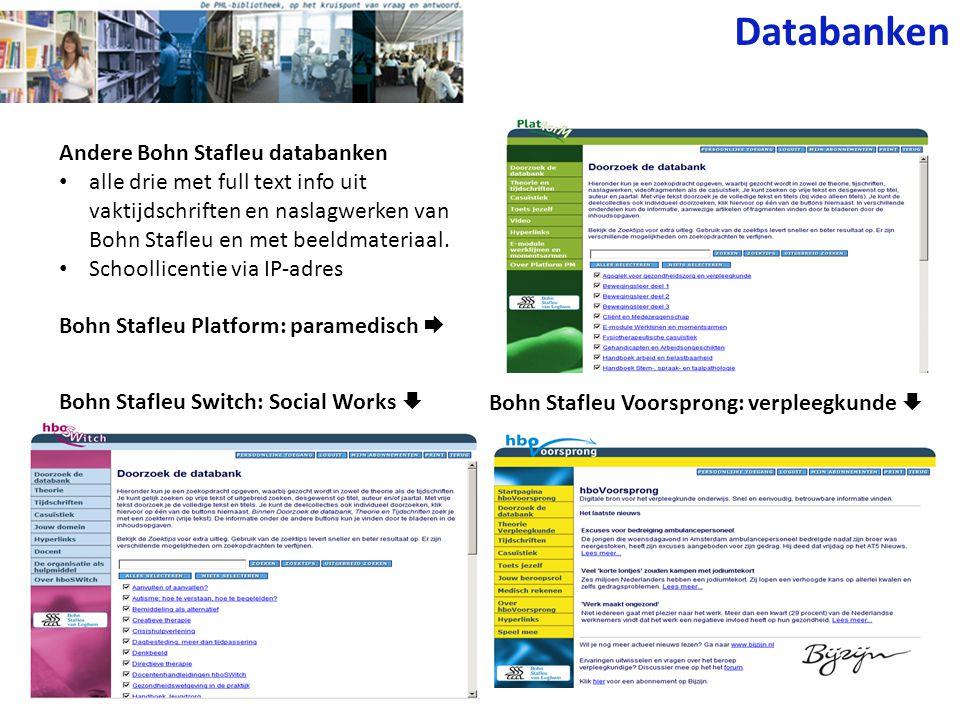 Databanken Andere Bohn Stafleu databanken