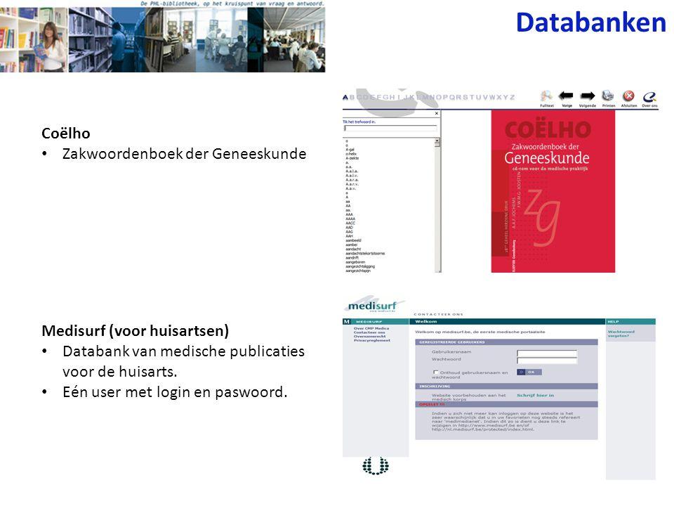 Databanken Coëlho Zakwoordenboek der Geneeskunde