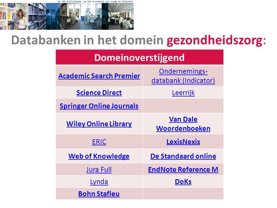 Databanken in het domein gezondheidszorg: