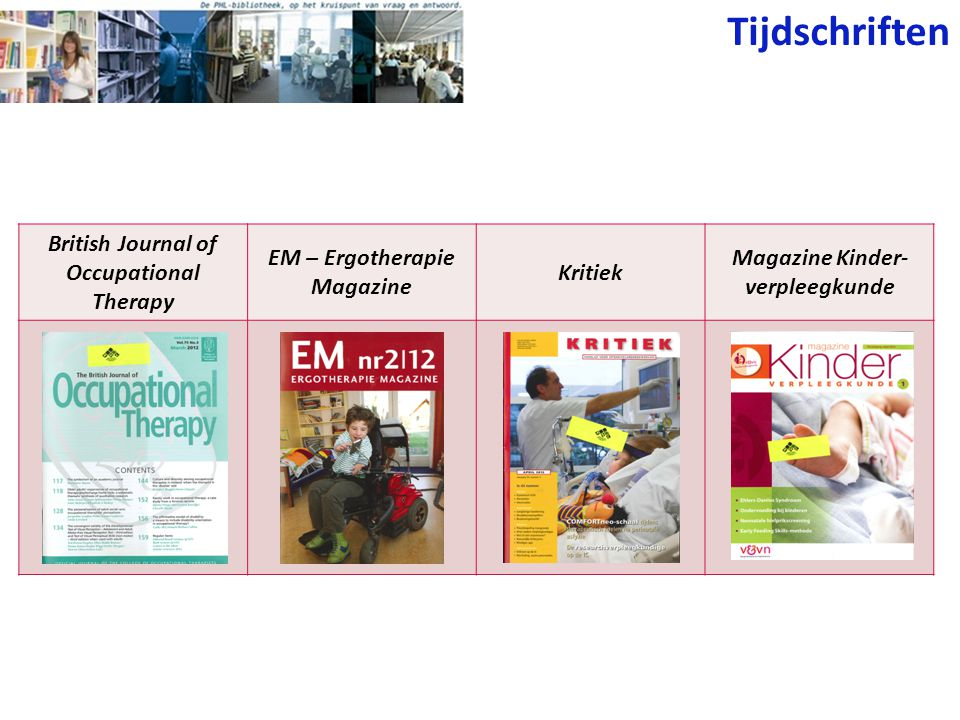 Tijdschriften British Journal of Occupational Therapy