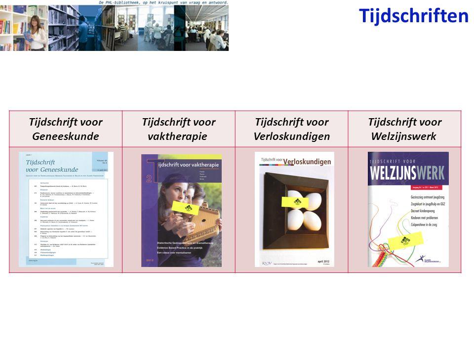 Tijdschriften Tijdschrift voor Geneeskunde
