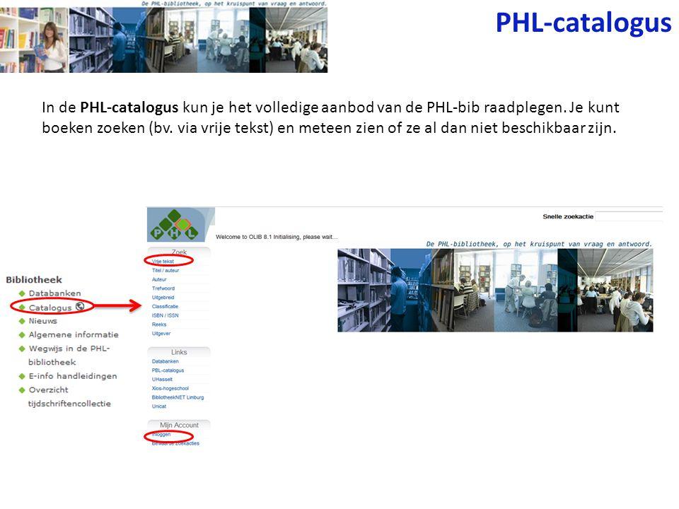 PHL-catalogus