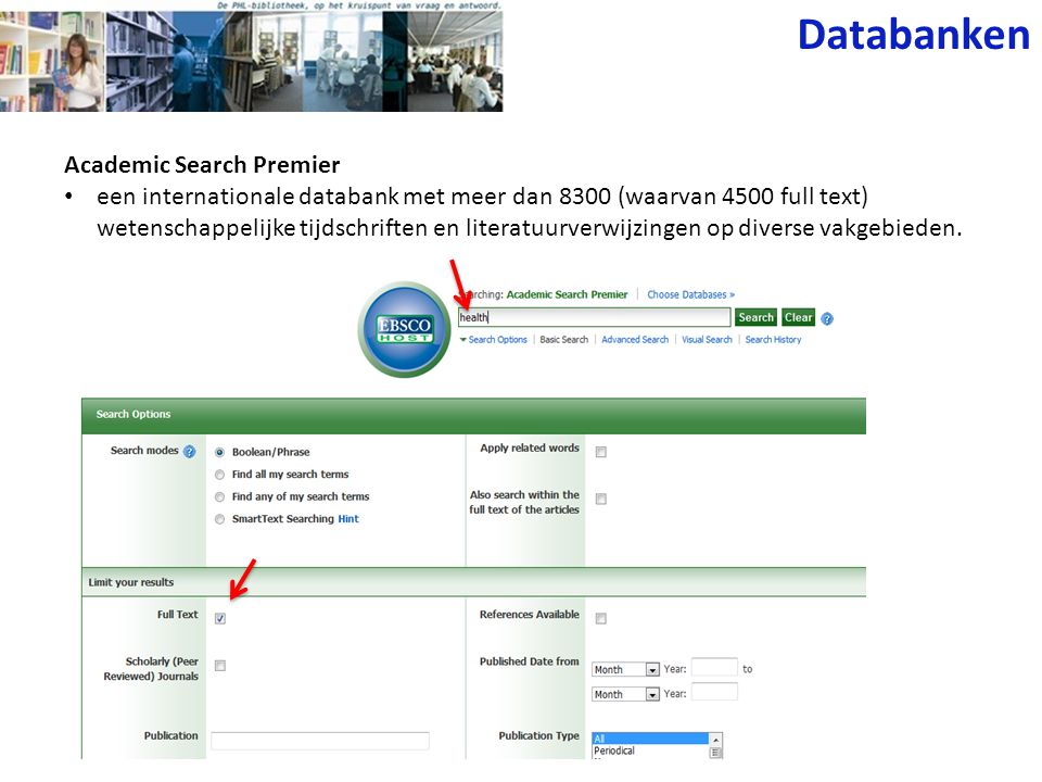 Databanken Academic Search Premier