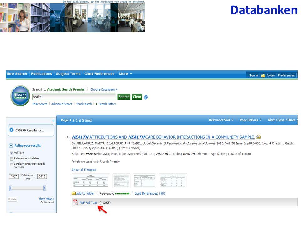 Databanken