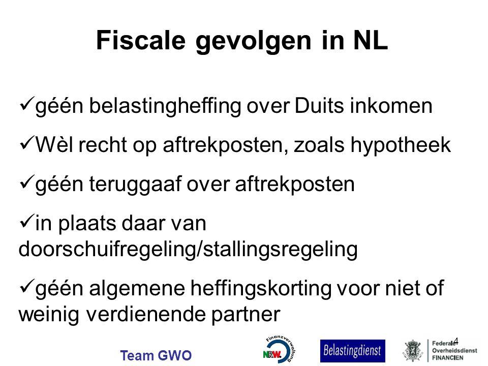 Fiscale gevolgen in NL géén belastingheffing over Duits inkomen