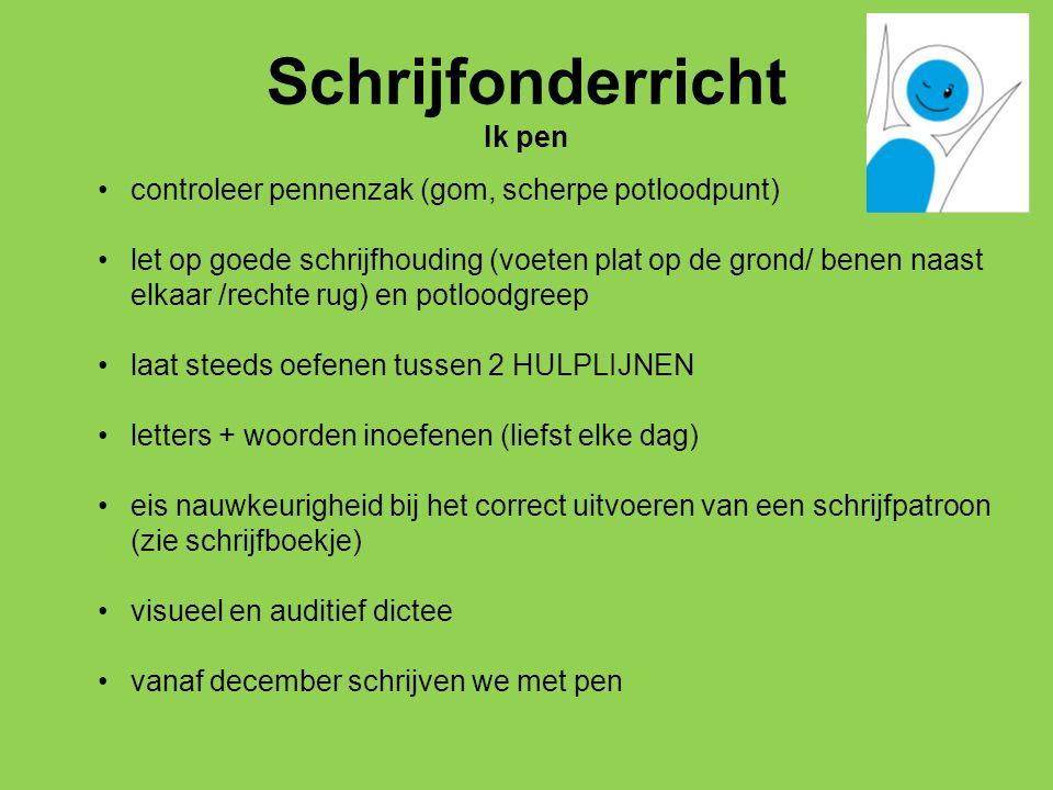 Schrijfonderricht Ik pen