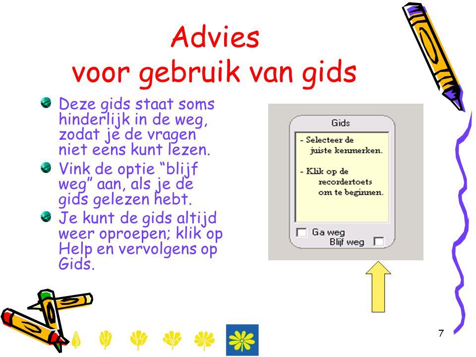 Advies voor gebruik van gids
