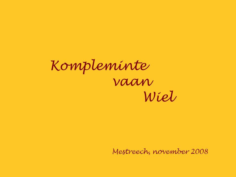 Kompleminte vaan Wiel Mestreech, november 2008
