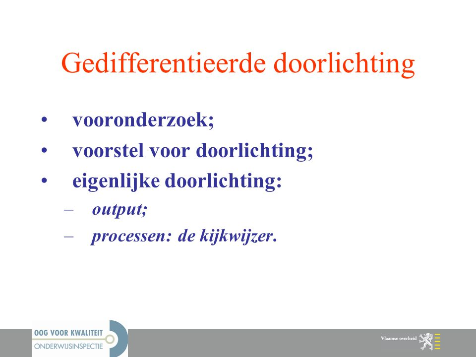 Gedifferentieerde doorlichting