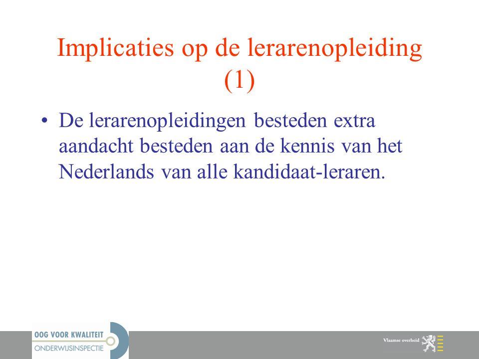 Implicaties op de lerarenopleiding (1)