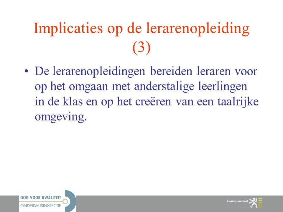 Implicaties op de lerarenopleiding (3)