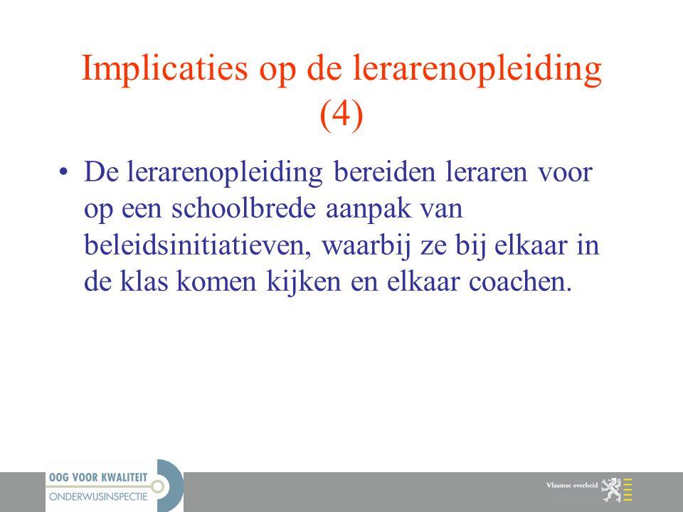 Implicaties op de lerarenopleiding (4)