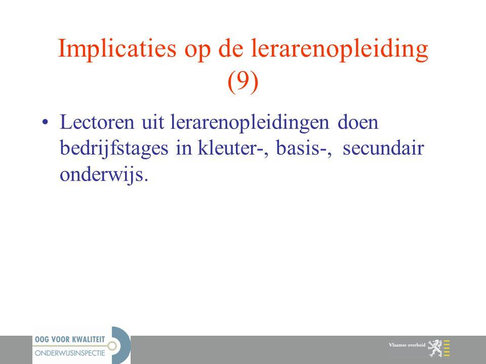 Implicaties op de lerarenopleiding (9)